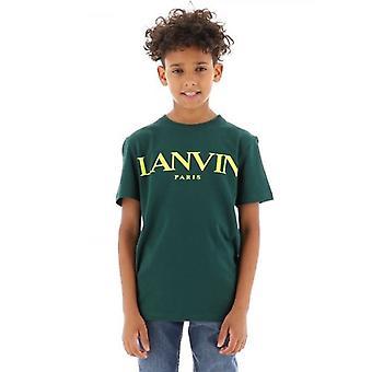 Lanvin Kids Grön kortärmad T-Shirt