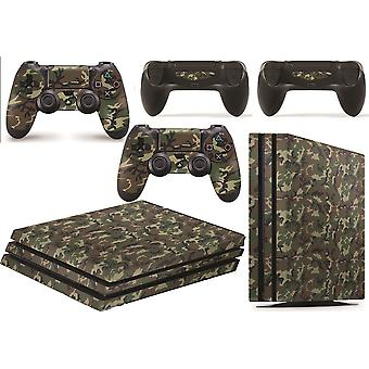 GNG PS4 Pro Console Camo Skin Decal Vinal Sticker + 2 Controller Skins Set