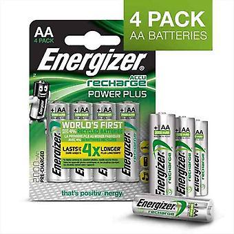 Baterías recargables Energizer Accu Recharge Power Plus 2000 AA BP4 AA HR6 2000 mAh