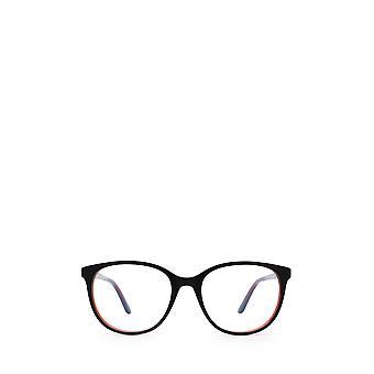 Gafas femeninas Cartier CT0007O negras y rojas