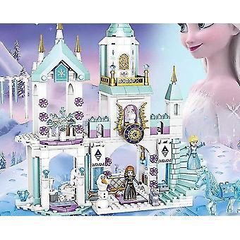 Età 3+, 360 pezzi disney frozen principessa elsa e anna costruzione modelli blocchi set per bambini(1)