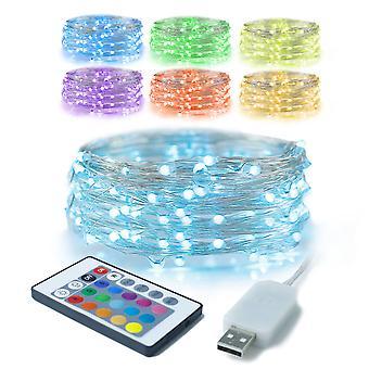 USB medený drôt svetelný reťazec Rgb plnofarebné farebné zmeny