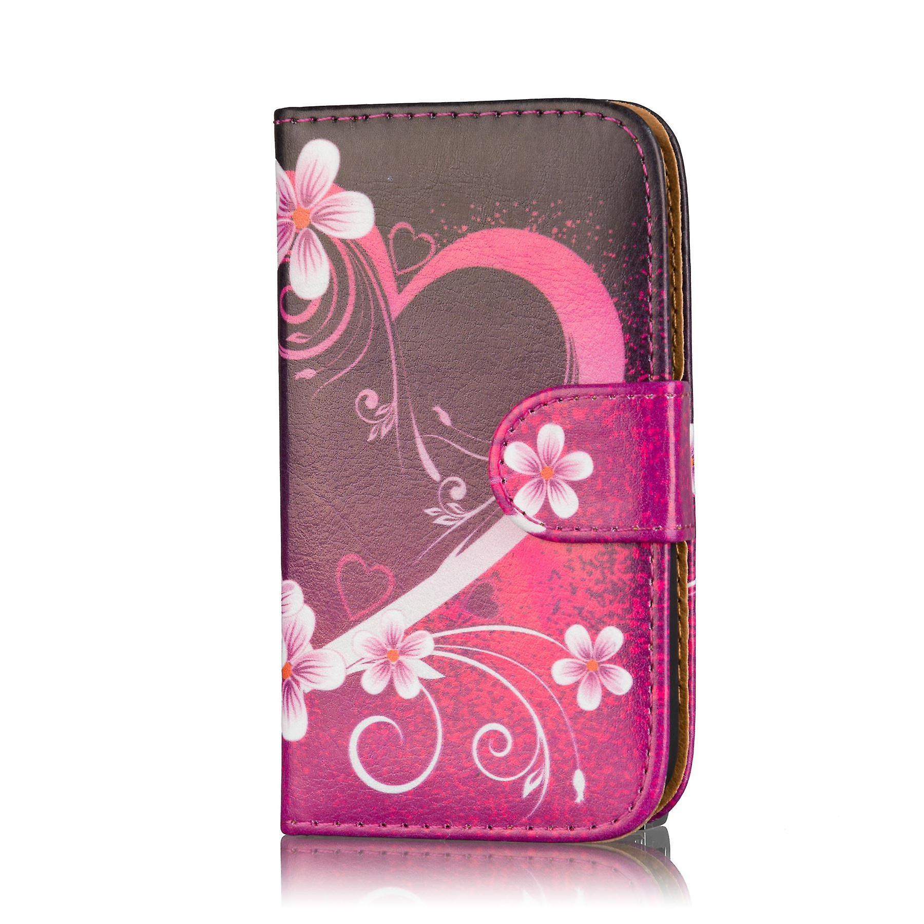 Design book wallet case for Motorola Moto G2 2014 - Love Heart