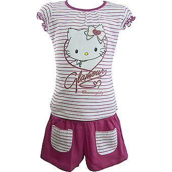 Flickor Charmmy Hello Kitty sommar T-shirt & Shorts Set