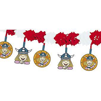 Aniversário de festa de Wickie quadrinhos Viking motivo Garland infantil