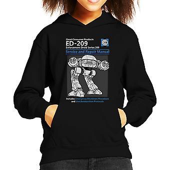 RoboCop ED209 Service And Repair Manual Kid's Hooded Sweatshirt