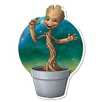Baby Groot Plant Pot Wall Art 3D Effect Guardians of The Galaxy Vol. 2 Cardboard Cutout