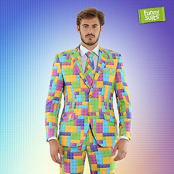 Blockbuster modules suit colorful 3-piece suit costume deluxe EU SIZES
