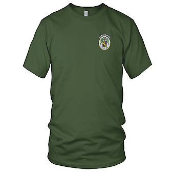 US Navy T-ATF 166 USNS Powhatan Embroidered Patch - Mens T Shirt