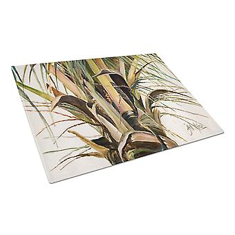Carolines Treasures  JMK1131LCB Top Coconut Tree Glass Cutting Board Large