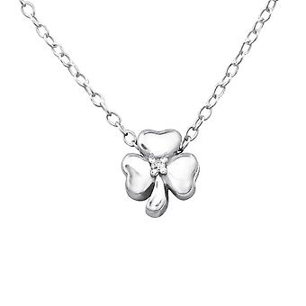 Shamrock - 925 Sterling Silver Jewelled Necklaces - W24292x
