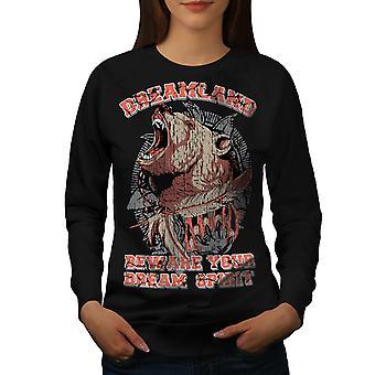 Dreamland Grizzly kobiet BlackSweatshirt   Wellcoda