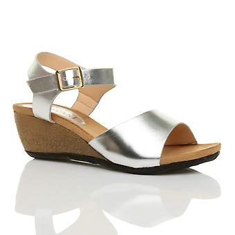 Plataforma de mujeres Ajvani medio tacón cuña trabajo inteligente zapatos sandalias