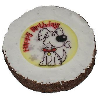 Hatchwell Dog birthday cake (Size 4in dia by 3/4in thick)