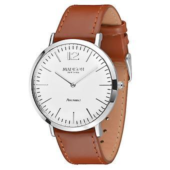MADISON nova YORK homens relógio couro relógio de pulso G4741E Avenue