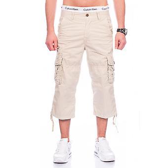 Menn Bermuda Shorts Last pese 100% bomull sommer denim cargoshorts kort svart hvit beige