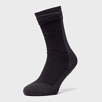 New Sealskinz Men's Hiking Mid Length Waterproof Socks Black