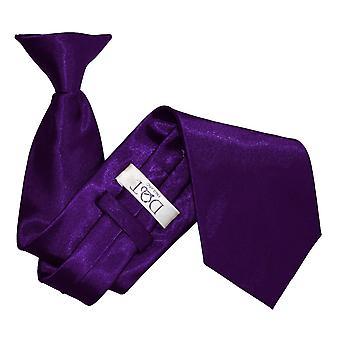 Plaine de Purple Satin Clip sur cravate