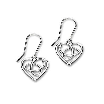 Sterling Silver Traditional Scotish Design Pair of Earrings