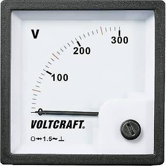 فولت كرافت AM-72x72/300V AM-72x72/300V متر لوحة تناظرية 300 V تتحرك لفائف