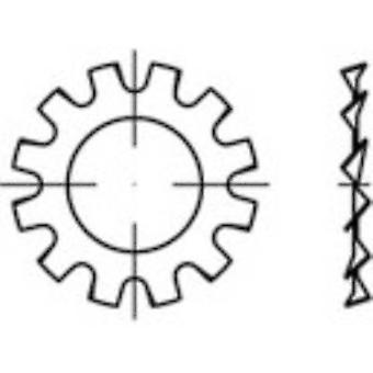TOOLCRAFT 1067152 tand låseskiver indvendig diameter: 5,3 mm DIN 6797 rustfrit stål 1000 pc (er)