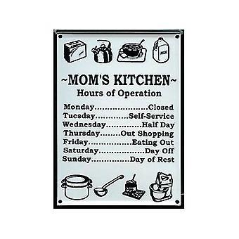 Mors køkken Metal postkort / mini tegn