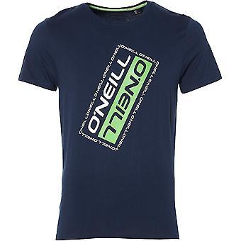 O'Neill Mens vinklade Slim Fit grafisk ekologisk bomull T Shirt