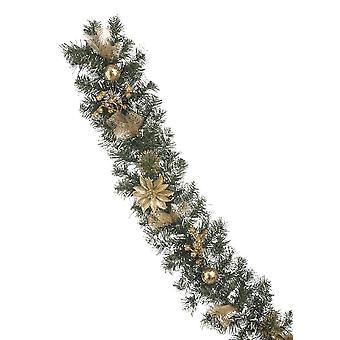 Festliche Produktionen 180cm Gold Glitter weihnachten weihnachtsstern gefrostet Garland