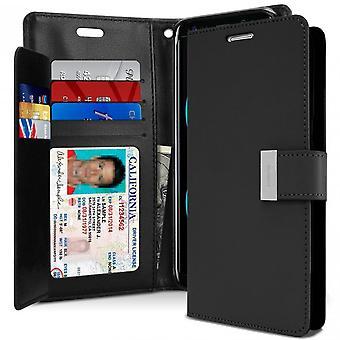 Mercury GOOSPERY Rich Diary for Samsung Galaxy S8 Plus-Black