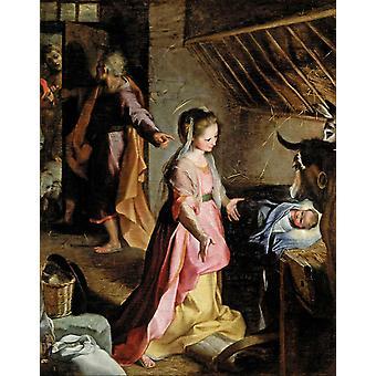 The Nativity,Fernando Gallego,50x40cm