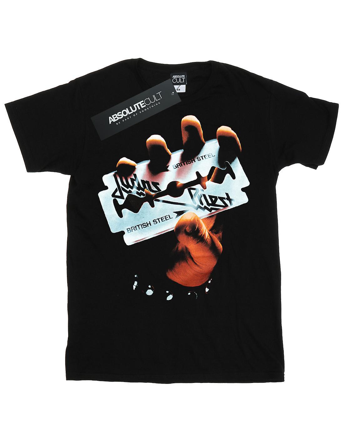 Judas Priest Women's British Steel Boyfriend Fit T-Shirt