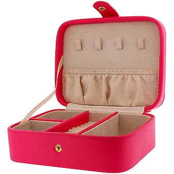 Mele Hot Pink Rosanne Leatherette Jewellery Case Ideal For travel 5168