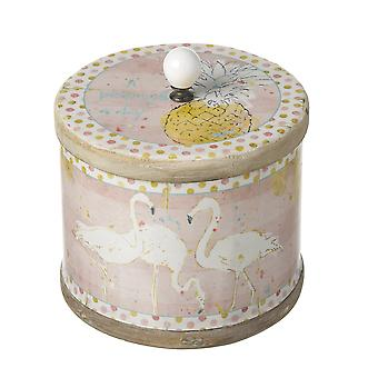 Small Flamingo Canister