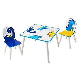Wooden table and 2 Chairs set Dinosaurs