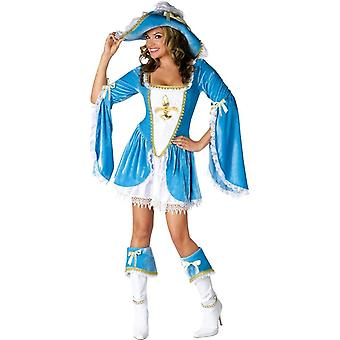 Beaytiful Blue Musketeer Costume for Lady