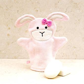 Roze Bow Bunny Bad mitt