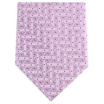 Knightsbridge Neckwear Zig Zag Regular Polyester Tie - Light Pink