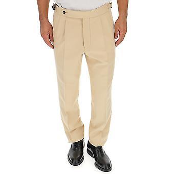 The Gigi Ciakj233110 Men's Beige Cotton Pants