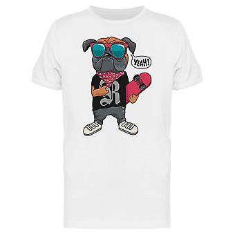 Hipster Skate Hund T-Shirt Herren-Bild von Shutterstock