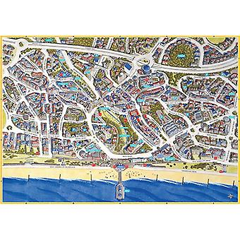 Cityscapes Street Map Of Bournemouth 400 Piece Jigsaw Puzzle 470mm x 320mm (hpy)