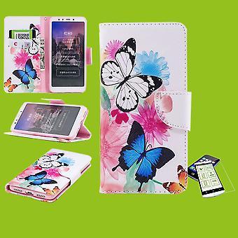 Für Samsung Galaxy A50 A505F / A30s A307F Kunstleder Tasche Book Motiv 39 + Hart Glas Schutz Hülle Case Cover Etui Neu