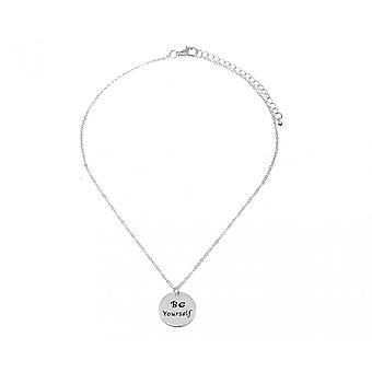 Intrigue Womens/Ladies Be Yourself Engraved Pendant