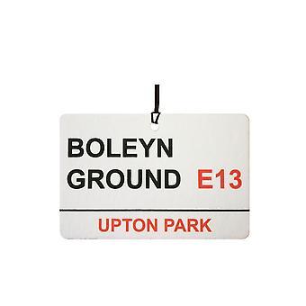 West Ham Utd / Boleyn Ground Street Sign Car Air Freshener