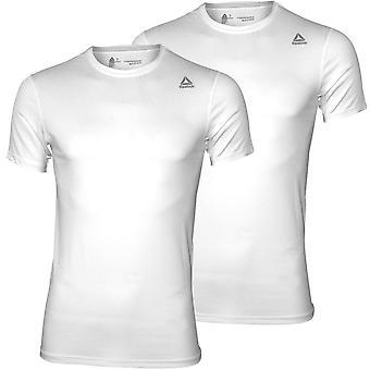 Reebok 2-pack idrotts prestationer besättning-Neck T-shirts