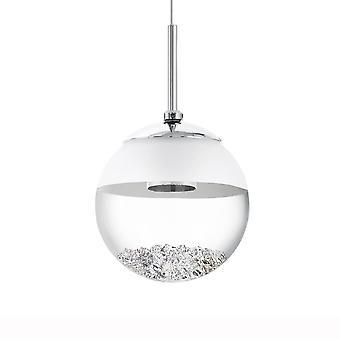 Eglo Montefio 1 ledet krystallkule anheng lys