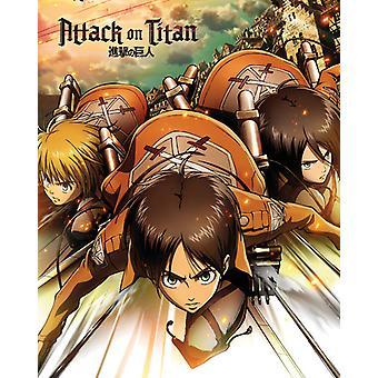 Angreb på Titan ét ark Mini plakat 40x50cm