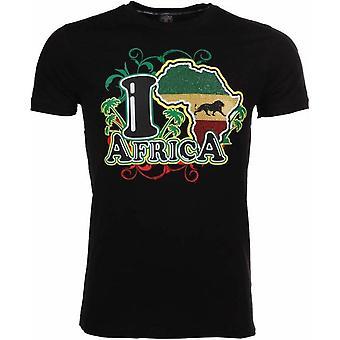 Camiseta Me encanta Africa-Negro