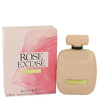 Rose extase eau de toilette sensuelle spray por nina ricci 538721 80 ml