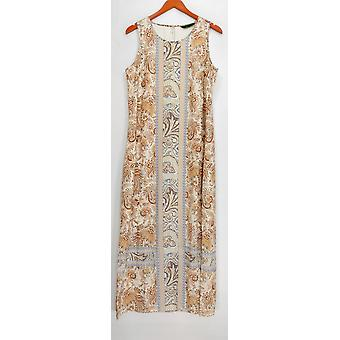 C. Wonder Dress Engineered Print Sleeveless Orange A275943