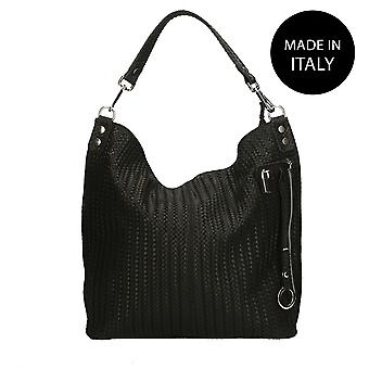 Leather shoulder bag Made in Italy 80051